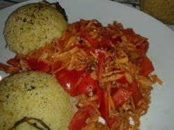 Hirse Karotten, Paprika, Tomaten